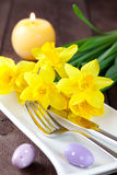 Place setting for easter Royalty Free Stock Photo