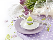 Place setting for Easter Royalty Free Stock Photos