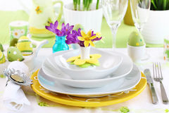 Place setting for Easter Royalty Free Stock Photography