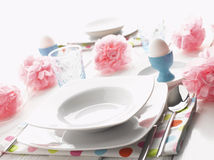 Easter Place Setting Stock Photos