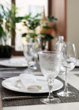 Place setting in an expensive restaurant Stock Images