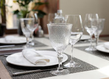 Place setting in an expensive restaurant Stock Photography
