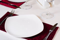 Place Setting in Fancy Restaurant Royalty Free Stock Photo
