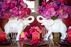 Place setting for Indian wedding Royalty Free Stock Photo