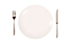 Place setting isolated Stock Photo