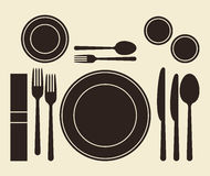 Place setting. On light background Royalty Free Stock Photos
