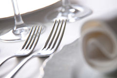 Place setting, macro. Luxury place setting, macro photo stock images