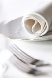 Place setting, macro Stock Image