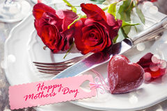 Place setting for Mothers day Stock Photo