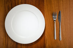 Place setting and plate Stock Image