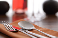 Place setting in a restaurant Stock Photos