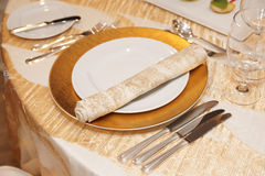 Place setting in restaurant Stock Image