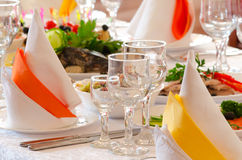 Place setting at restaurant Royalty Free Stock Image