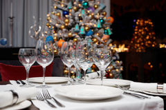 Place setting in a restaurant Stock Image
