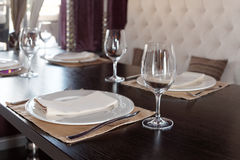 Place setting in a restaurant Royalty Free Stock Images