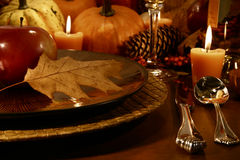 Place setting for Thanksgiving. Place setting for aThanksgiving table Stock Photography