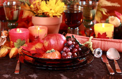 Place setting for Thanksgiving Stock Photography