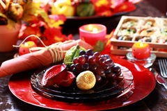 Place setting for Thanksgiving Stock Images