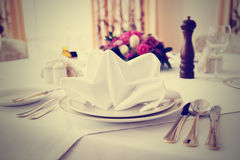 Place setting, toned photo Royalty Free Stock Photography