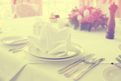 Place setting, toned photo Royalty Free Stock Photos