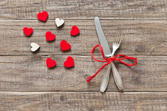 Place setting for Valentines day Stock Image
