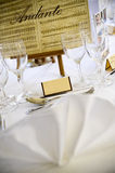 Place setting at wedding Royalty Free Stock Photography
