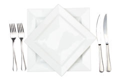 Place Setting With High-gloss Plate Royalty Free Stock Photo