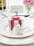 Place Settings For Bride And Groom Stock Photo