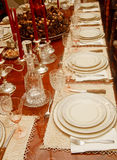 Place Settings of China and Crystal Royalty Free Stock Image