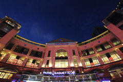 The place shopping mall. The Place is a famous shopping mall situated at the CBD of the capital city of Beijing, which has a collection of fashionable brands Stock Photos