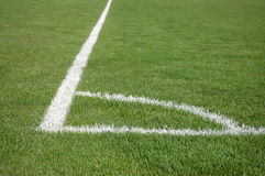 Place for soccer corner kick Royalty Free Stock Photo