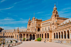 Place of Spain in Seville Royalty Free Stock Images