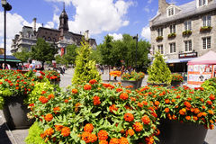 Place St-Jacques. In Old Montreal, Quebec, Canada Royalty Free Stock Photos