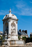 Place St. Sulpice fountain, Paris Stock Image