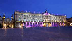 Place stanislas in blue. Place Stanislas in Nancy at blue hour Stock Image