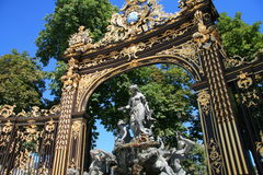 Place Stanislas in Nancy. Detail of the Place Stanislas in Nancy, France Royalty Free Stock Photo