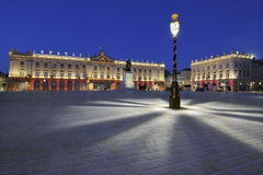 Place Stanislas, Nancy, France. At dawn Royalty Free Stock Photo