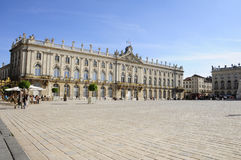Place Stanislas (Nancy - France). View of the famous Place Stanislas of Nancy (France), with also the Hotel de Ville Royalty Free Stock Images