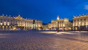 Place Stanislas Nancy France at night.  Stock Images
