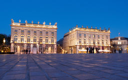 Place Stanislas In Nancy, France At Night. Blue Hour at Place Stanislas in Nancy, France at night Royalty Free Stock Photos