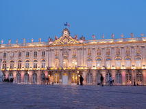 Place Stanislas In Nancy, France At Night. City Hall Of Place Stanislas in Nancy, France at night Royalty Free Stock Image