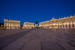 Place Stanislas In Nancy, France At Night Royalty Free Stock Photography