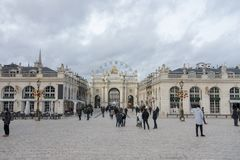 Place Stanislas in nancy. France Royalty Free Stock Photo