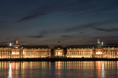 The place of the stock exchange in Bordeaux Royalty Free Stock Images