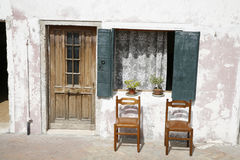 Place in the sun. Nice place in the sun - the island of Burano in the Venetian lagoon Royalty Free Stock Images