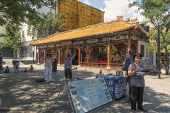 Place Sun-Yat-Sen Thai Chi Royalty Free Stock Photo