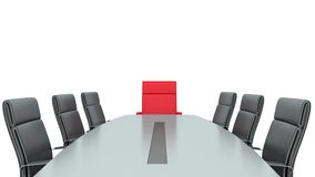 Place at the table for the boss.  Royalty Free Stock Photos