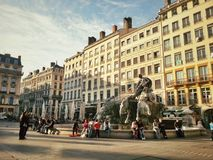 Place terreux of Lyon old town, France Royalty Free Stock Photography