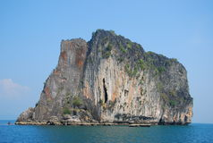 Rock mountain in Krabi and Trang south of Thailand. This is rock mountain in Krabi and Trang south of Thailand.Island that take a boat far from Trang province Royalty Free Stock Images