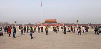 Place Tiananmen de Pékin en Chine Photo libre de droits